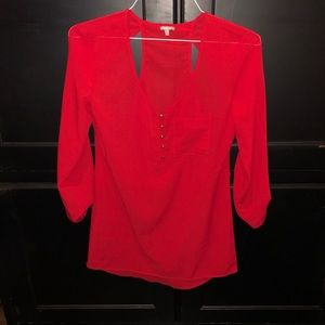 Red blouse- small