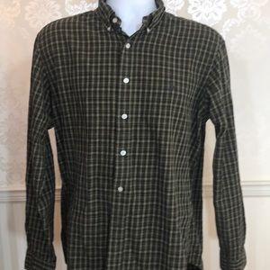 Men's Ralph Lauren Green Plaid Button Down Shirt