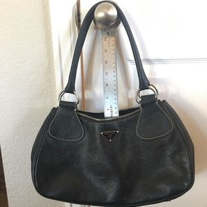 PRADA Vitello Daino Box Shoulder Bag Nero