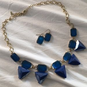 Jewelry - Blue Stone Necklace & Earring Set
