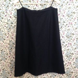 J. Crew Black Wool A-Line Skirt