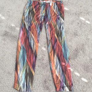 Feather print legging XL