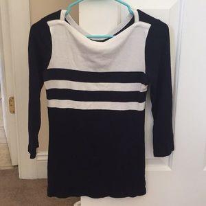 Striped soft neck shirt