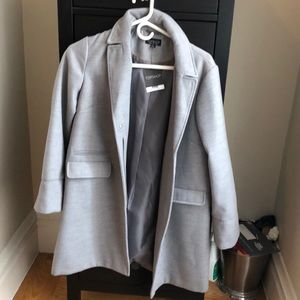 Never used: Top shop Grey Overcoat size US 6.