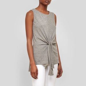 Kenneth Cole Knot Front Tunic Heather Gray