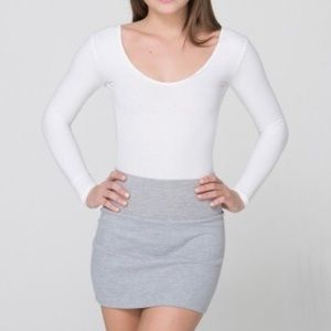American Apparel heather gray jersey mini-skirt M