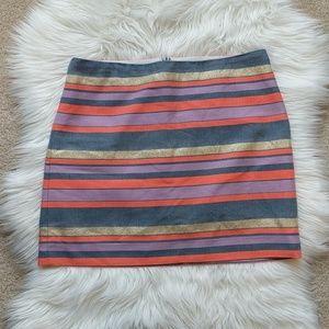 J. Crew factory mini skirt striped size 6