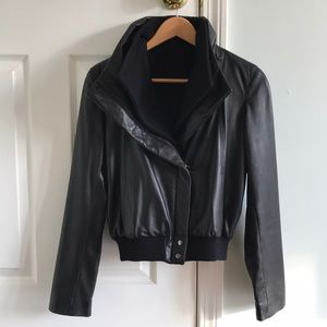 Kenneth Cole Leather bomber jacket