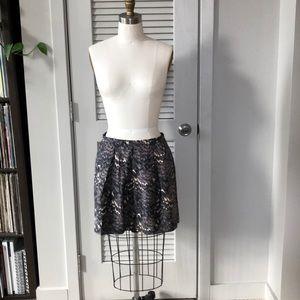 Madewell silk/cotton blend skirt
