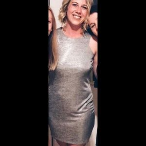 Silver Fitted Top Shop Dress