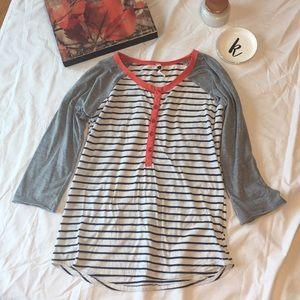 Baseball tee style shirt