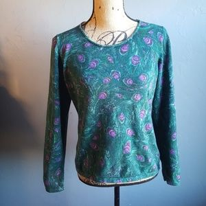 Talbots Peacock Feather Sweater