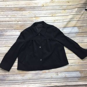 Theory Black Cropped Swing Jacket