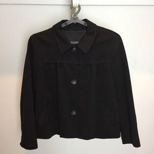 Theory Black Cropped Swing Jacket