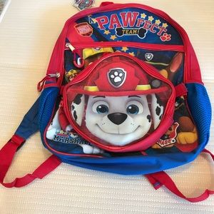 Brand new with tags Two pice Paw Patrol Backpack