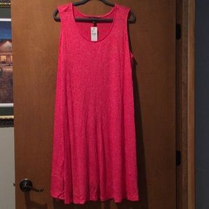 NWT Red Lane Bryant Swing dress