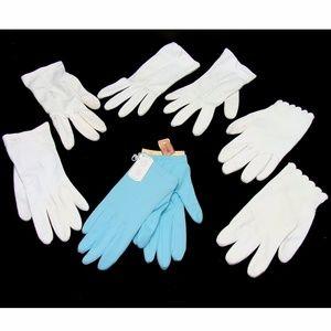 Vintage gloves bundle-white blue glove lot