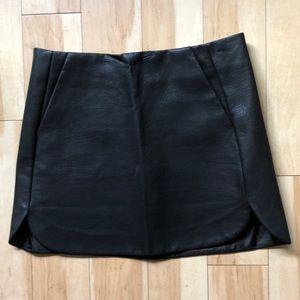 TopShop Faux Leather Mini Skirt