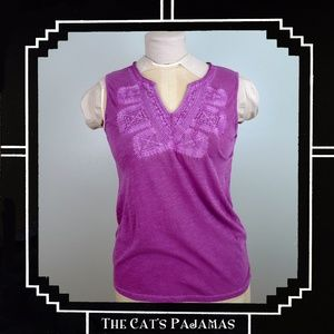 Lucky Brand NWT Embroidered Tank Top XS