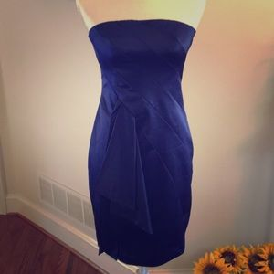 Royal blue strapless cocktail dress size 4