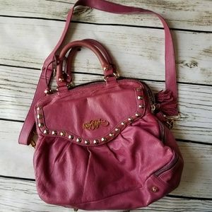 Betsey Johnson XL Hobo tote bag gen. leather pink