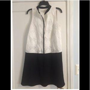 Loft Black and white lace dress