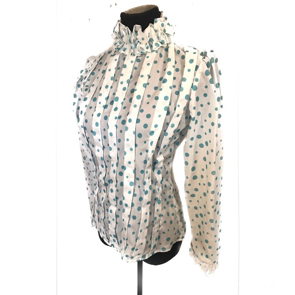 Vintage Tops - Vintage polka dot top blouse