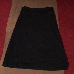 Short black skirt!