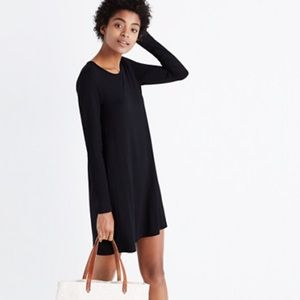 Long-sleeve swingy tee dress