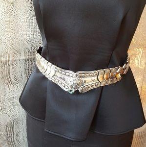 Vintage silver belt hook clasp fully adjustable