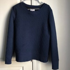 Blue textured sweatshirt Lou and gray