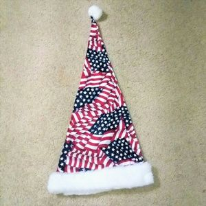 Accessories - The American Flag Santa Hat