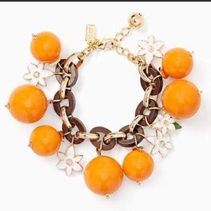 Kate Spade Citrus Crush Orange bracelet NWT
