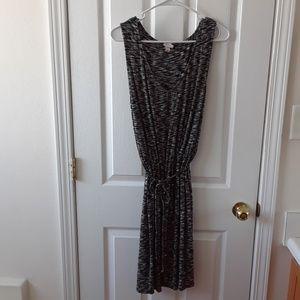 MERONA XL GRAY SLEEVELESS MARLED JERSEY KNIT DRESS