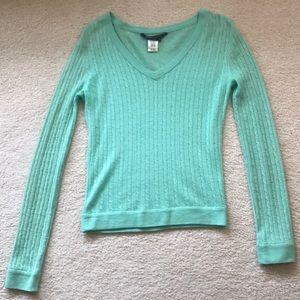 BCBG Max Azria cashmere seafoam green sweater - M