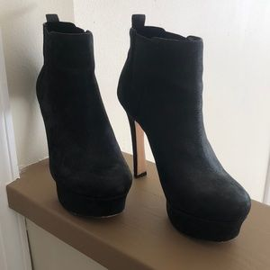 Vince Camuto black ankle boots