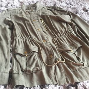 H&M military/utility olive green jacket