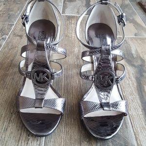 Michael Kors Metallic Silver  Heels