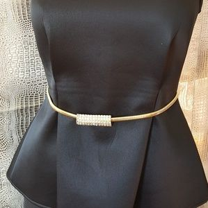 Vintage gold stretch and rhinestone belt