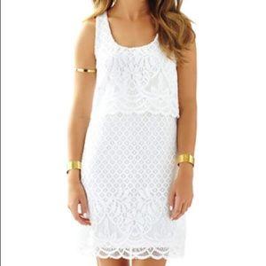 NWT Lilly Pulitzer Stelle Dress in White Medium