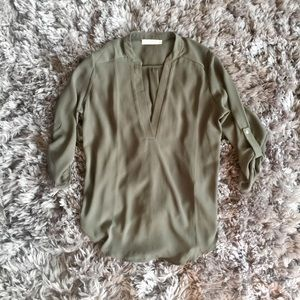 Nordstrom lush olive green blouse