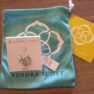 Kendra Scott Alistar stacking gold ring set NWT