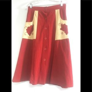 1970s vintage skirt 28 inch waist