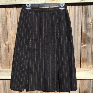 Vintage | pinstripe wool skirt