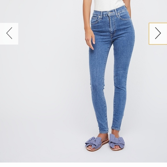 51f8399e Levi's with free people Denim - Levi's mile high super skinny in cast ...