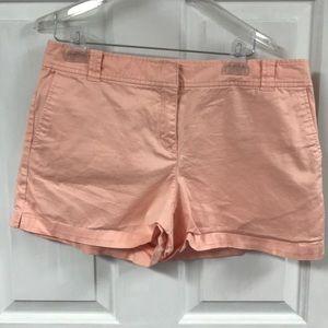 New York & Company Peachy Pink Cotton Shorts