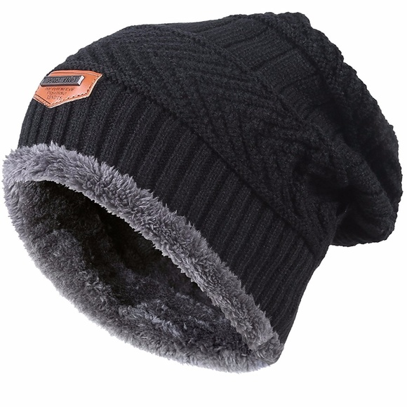 official photos 9a267 cac92 Winter Knitting Skull Cap Wool Slouchy Beanie Hat