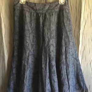 Talbots Navy Textured Skirt