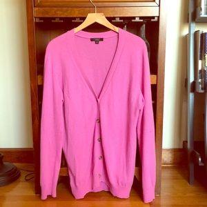 Ann Taylor lavender cashmere cardigan sweater
