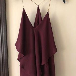 charlotte russe blouse maroon